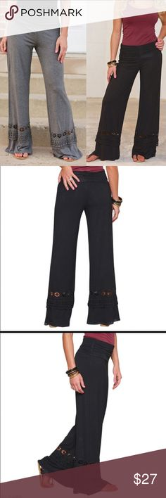Black Wide Leg Yoga Pants New with tags. Black color! Material: cotton blend, polyester. Pants Track Pants & Joggers