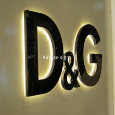 Backlit Channel Letters - Bing Images Backlit Signage, Channel Letters, Bing Images, Villa, Wall Lights, Signs, Lighting, Home Decor, Appliques