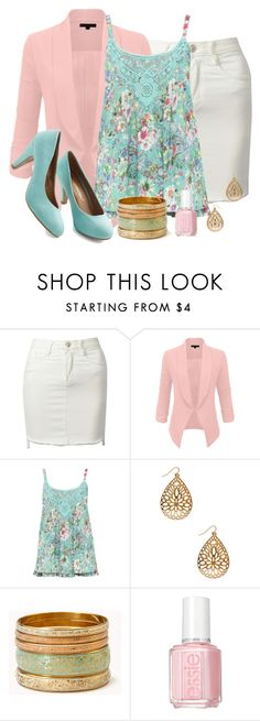 """""""Pink and Mint"""" by mary-grace-see on Polyvore featuring M&Co, Forever 21, Essie, women's clothing, women's fashion, women, female, woman, misses and juniors"""