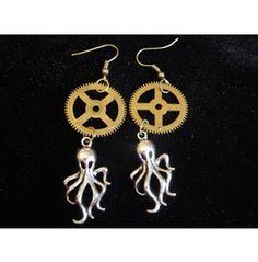 Octo Gear Earrings