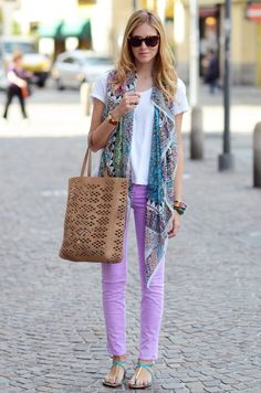 scarf and sandals