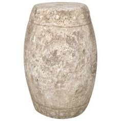 Early 19th Century Chinese Limestone Drum Stool