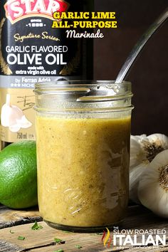 Garlic lime all-purpose marinade is a simple recipe that comes together in a snap and creates the most amazingly flavorful, moist and tender meat dishes. Perfect on chicken, pork, steaks and seafood. Truly an all-purpose marinade I would happily use this as gravy on my mashed potatoes too (I may have done that already).