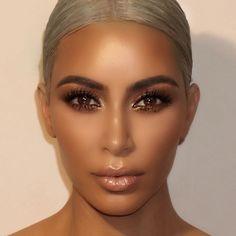 Kardashian style – My hair and beauty Diy Beauty Makeup, Eye Makeup Art, Glam Makeup, Hair Makeup, Bronze Makeup, Makeup Inspo, Dramatic Wedding Makeup, Wedding Makeup For Brown Eyes, Makeup For Green Eyes