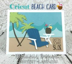 Cricut Beach Card