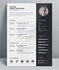 Professional Resume Template / CV Template with super clean and modern look. Elegant Resume page designs are easy to use and customize, so you can quickly tailor-make your resume for any ...