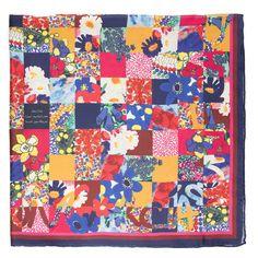 Pañuelo Patchwork 90 cm x 90 cm | Fulares y pañuelos | Mujer | Accesorios | Purificación García
