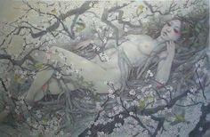 Miho Hirano - 謳歌 M25 Oil on canvas