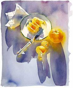 Morning - M. Merk Najaka, watercolor