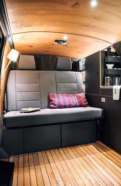 Have van, will travel... in style! German designer Nils Holger Moormann gave a VW T6 minivan an extreme makeover one can live in – and can't live without!