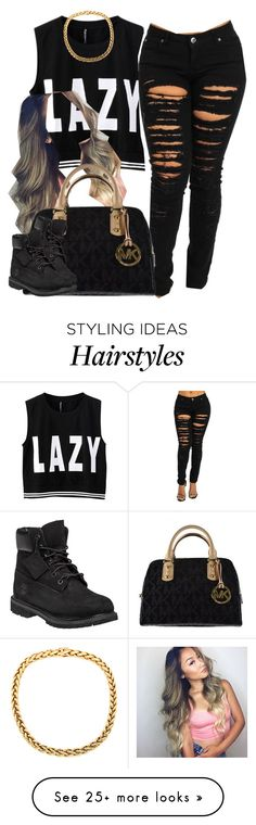 """""""."""" by trillest-queen on Polyvore featuring Michael Kors and Timberland"""