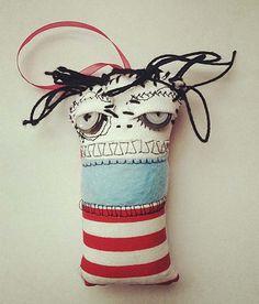 Mini monster art doll Ornament- By ThEm DoLLz