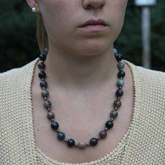 jasper and bronze necklace 18