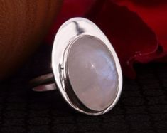 Anillo de plata esterlina con 3 Cabujones de por My925SilverRings                                                                                                                                                                                 Más
