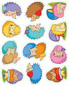 Carson Dellosa Stickers, Happy Hedgehogs Shape Die-cut shapes Acid- free and lignin free 72 count Happy Hedgehogs collection Happy Hedgehog, Hedgehog Craft, Impression Etiquette, Cubby Tags, Lacing Cards, Woodland Creatures, Penny Black, Digi Stamps, Scrapbook Stickers