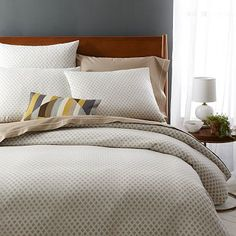 Jacquard Leaf Duvet Cover + Shams