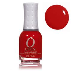 Orly Monroe's Red. This is the color of my nails now.