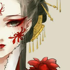 Lady in red | Character concept idea for fantasy and Asian style setting | Chinese princess | Visual female prompt #writing #book #inspiration