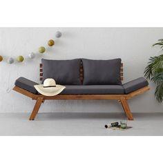 whkmp's own tuinbank/ligbed Modena , Bruin Outdoor Sofa, Outdoor Furniture, Outdoor Decor, Sofas, Home And Garden, Chair, Home Decor, Garden Ideas, Flora
