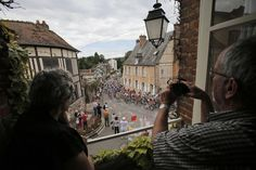 Residents of Lyons-la-Foret watched the pack pass through their village during the fifth stage Thursday.