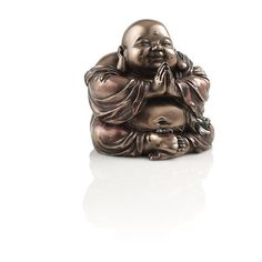 Hotei Buddha is the god of contentment and happiness. This is evident from his cheerful face and big belly! Cast resin statue with bronze finish and hand-paint…