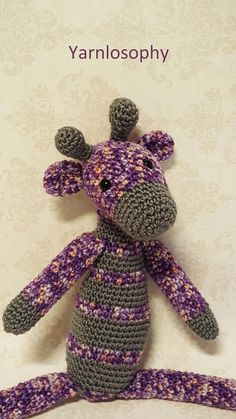 Giraffe toy crochet pattern  This giraffe is very easy to crochet, even for a beginner!  Giraffe is nearly 30 cm tall and waits for someone to cuddle her!  Enjoy a 31 pages pattern, with more than 40 photos!  This pattern is a step by step photo pattern, with photos of most of rounds, to