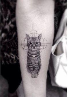 Gato Galáctico con Corazón