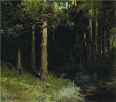Hand painted oil painting reproduction on canvas of Forest 7 by artist Shishkin as gift or decoration by customer order. Oil Painting For Beginners, Painting Techniques, Painting Process, Oil Painting Pictures, Oil Paintings, Russian Landscape, Wooded Landscaping, Forest Painting, Landscape Artwork