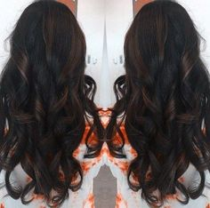long dark brown hairstyle