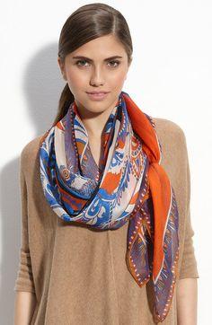 Foulard soie couleur unie ou imprimé