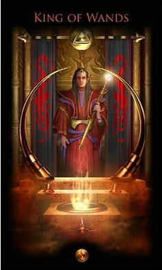 Legacy of the Divine Tarot / Gateway to the Divine Tarot by Ciro Marchetti - King of Wands