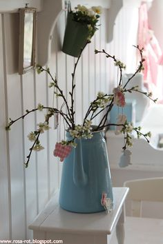 spring branches for hanging easter decorations. Easter Bilby, Spring Branch, Chicken Garden, Hoppy Easter, Easter Eggs, Easter Crafts, Easter Ideas, Easter Parade, Vase Fillers
