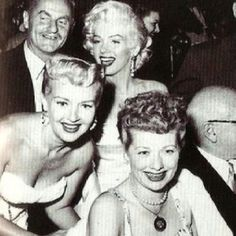 i love lucy and marilyn monroe and betty grable and red skelton