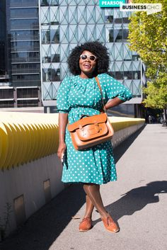 Fun vintage inspired chic office look featuring pieces bought in the UK