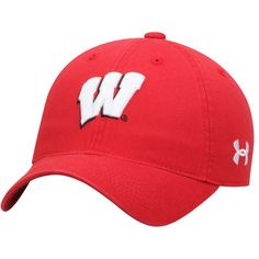 Youth Under Armour Red Wisconsin Badgers Relaxed Adjustable Hat
