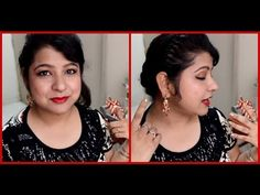 ▶ New Years Eve Party Makeup : Retro Glam : Cat eyeliner & Matte Red Lips + blush tips - YouTube
