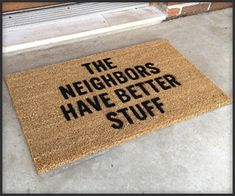"""This doormat is """"supposed to"""" protect your home.  My """"LEAVE"""" mat seems to work fine, though."""