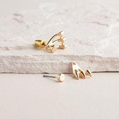 One of my favorite discoveries at WorldMarket.com: Gold Spike Ear Jacket Drop Earrings
