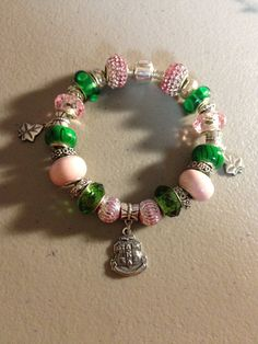 Sparkling Pink & Green AKA Sorority SIGNATURE by Cre8tiveAwareness