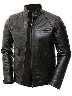 Shop the latest collection of Abbraci Men's MotoBiker Vintage Shade Cafe Racer Quilted Motorcycle Padded Shoulder Wax Real Lambskin Leather Jacket from the most popular stores - all in one place. Similar products are available. Lambskin Leather Jacket, Leather Men, Black Leather, Cowhide Leather, Real Leather, Motorcycle Leather, Motorcycle Jacket, Moto Jacket, Jacket Men
