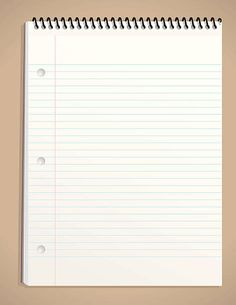 Realistic blank notebook isolated on white background.