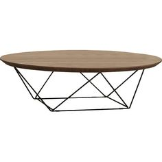 The geometric stainless steel legs create an airy yet sophisticated feel for this coffee table. The natural wood grain on the circular top adds a soft texture, creating the ideal contrast to the sleek decorative metal legs. Modern Square Coffee Table, Round Wood Coffee Table, Home Coffee Tables, Small Coffee Table, Contemporary Coffee Table, Coffee Table Design, Round Coffee Table, Fire Pit Coffee Table, Art Deco