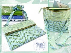 This foldover zipper purse is just the right size to hold the necessities.