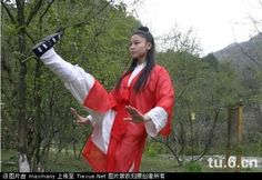A nun at Wǔdāng Mountain Monastery, a Dàoist sect focused largely on martial arts and inner alchemy