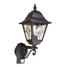 Elstead Norfolk Up Wall Lantern With PIR, a part of a full range of leaded lanterns, the Norfolk is a versatile choice for all residential applications. Offering unique styling and exceptional value, each lantern panel features five separate pieces of glass, hand-leaded together. All versions are backed by a 5 year anti-corrosion guarantee. The NR1 is available with a P.I.R. detector which is guaranteed for 2 years. Available in a Black finish. Corner bracket C/BKT5 is available for wall…