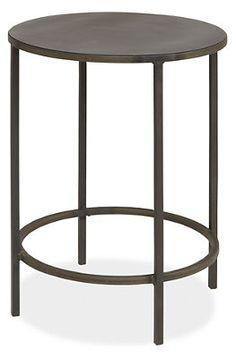 Slim Round End Tables in Natural Steel - Nightstands - Bedroom - Room & Board