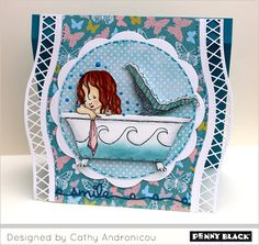 Sending Sunshine with Penny Black stamps and dies... click through for supplies and instructions