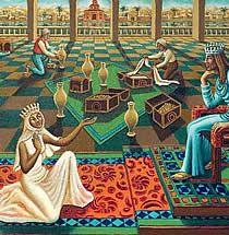 Image result for sheba gave solomon gifts