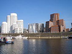 Neuer Zollhof im Medienhafen von Düsseldorf
