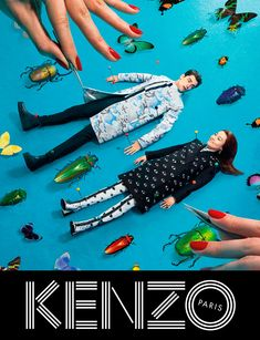 obsessed with this kenzo fall 13 campaign shot, featuring sean opry. via fucking young.#bugs